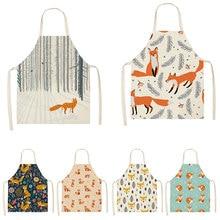 Apron Cotton Housework Cleaning-Appliance Linen Polyester Sleeveless Modern 1pcs Fox-Series