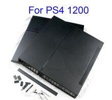 1 مجموعة كاملة الإسكان الحال بالنسبة ل PS4 سليم برو وحدة التحكم أسود اللون ل PS4 1100 1000 1200 وحدة التحكم الإسكان الإسكان البيت شل لديها شعار