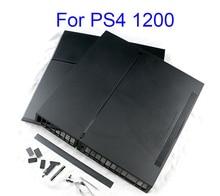 1 takım için tam konut çantası PS4 slim pro konsolu için siyah renk PS4 1100 1000 1200 konsol konut Case ev kabuk Logo var