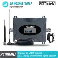 Lintratek 3g Amplifier WCDMA 2100 Mobile Signal Booster UMTS 2100MHZ GSM 3G cellphone cellular signal Repeater Amplifier 20 Signal Boosters    -