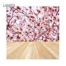 цена на Laeacco Birthday Pink Flowers Wall Wooden Boards Portrait Backgrounds Photography Customizable Backdrops Props For Photo Studio