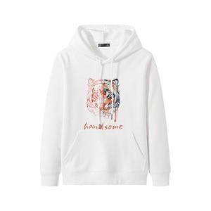 Image 3 - Pioneer Campo Streetwear Moda Felpe Degli Uomini di 100% Cotone Con Cappuccio Nero Bianco Causale Felpe Uomo AWY906403