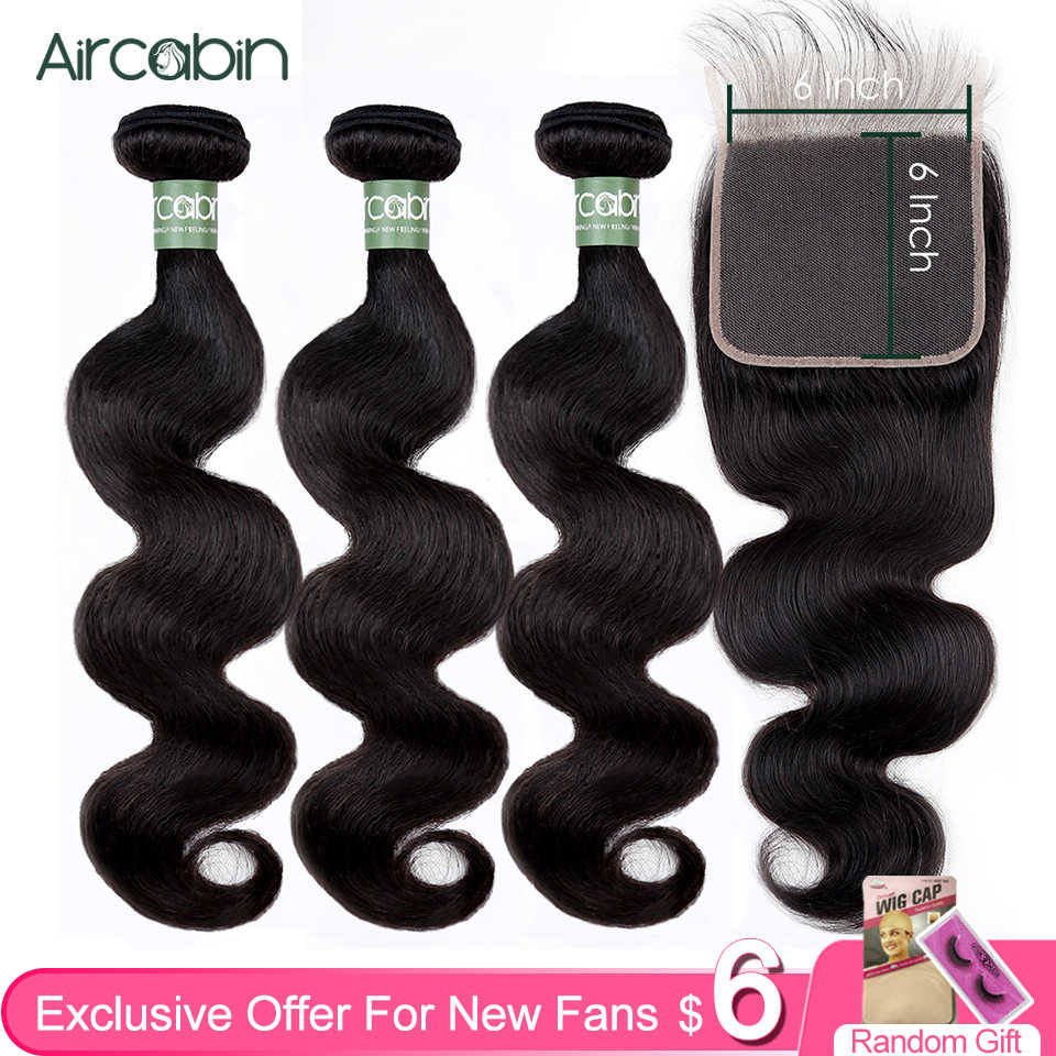 Aircabin Body Wave Bundels Peruaanse 100% Remy Menselijk Haar 1/3/4 Bundels Dubbele Inslag Weave Natual Kleur 8-30 Inch Hair Extensions