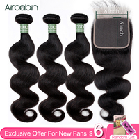 Aircabin Body Wave Bundles Peruvian 100% Remy Human Hair 1/3/4 Bundles Double Weft Weave Natual Color 8 30 Inch Hair Extensions