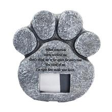 Pet-Memorial-Stones Photo-Frame Paw-Print Grave for Loss of Shaped Pet-Dog-Cat