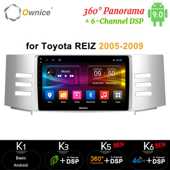 Ownice 360 Panorama Android 9.0 4G 64G ROM Car Radio player GPS Navi DVD 4G LTE for Toyota Reiz Mark X 2005 2006 2007 2008 2009
