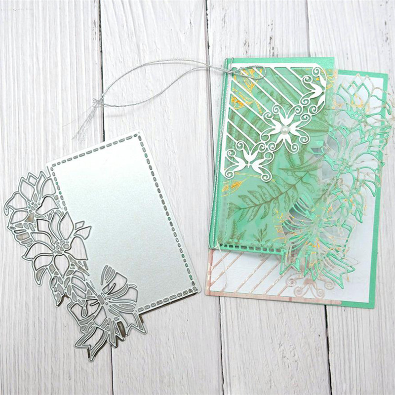 GJCrafts Flower Lace Edge Dies Frame Metal Cutting Dies For Card Making Scrapbooking Embossing Craft  New 2019 Dies Christmas