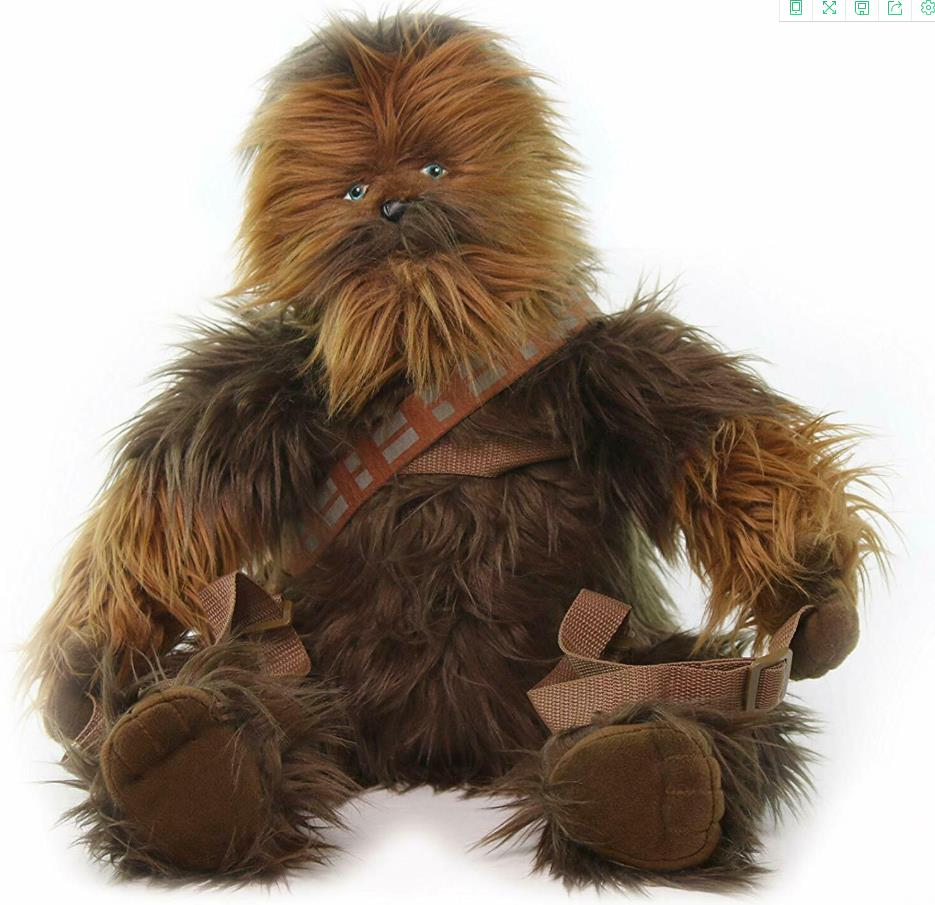 OFFICIAL Star Wars Chewbacca Backpack Chewy Brown Plush Climber Bag