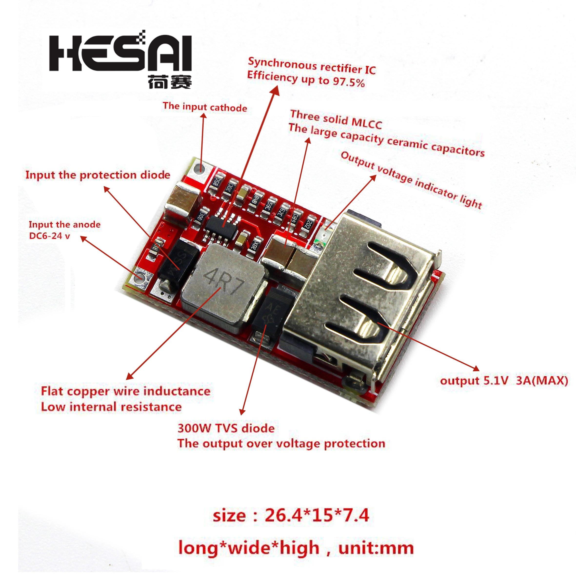 DC 6-24V 12 V/24 v zu 5V USB Ausgang Ladegerät Step Down Power Module mini DC-DC Step Up Boost Modul Power Einstellbare Buck Converter