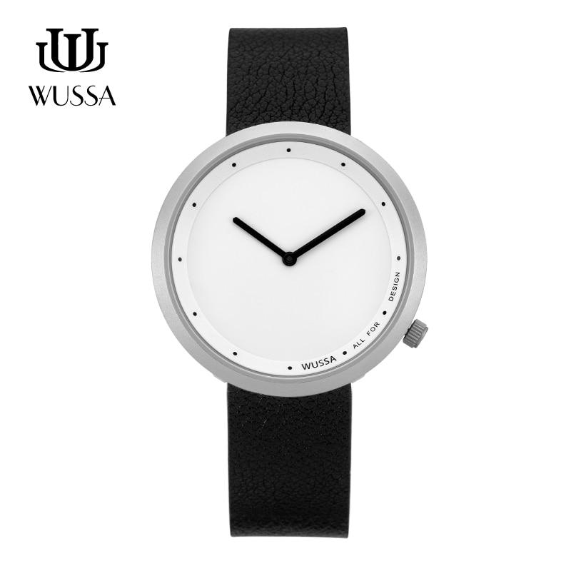 WUSSA  Simple Neutral Quartz Couple Watch