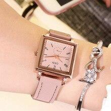 Belt Watch Female Waterproof Square Plate Hot Ladies Watch Quartz Watch  Wrist Watches for Women