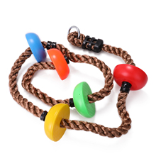 Color Disc Climbing Rope Outdoor Sports Swing Rope Kids Exercise Climbing Rope indoor Entertainment Equipment Hangings Swing Set