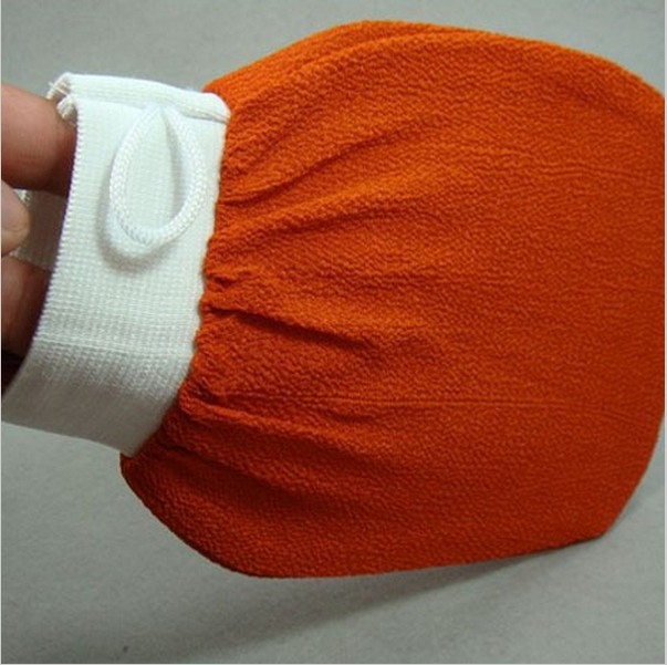 70Pcs Orange Glove, Turkish Hammam Scrub Mitt,Exfoliating Scrub Mitt Bath Glove Skin Towel Korea Glove