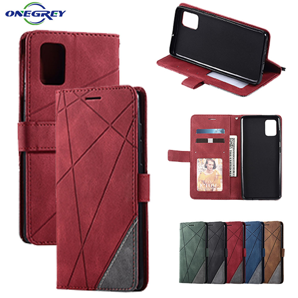 Leather Flip A21S Case For Samsung Galaxy A51 A71 5G A81 A91 A50 A70 A40 A20 A10 E S J3 J5 J7 A5 2017 A6 A7 A8 2018 Phone Cover image