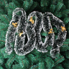 Christmas Decorations Ornaments Xmas Tree Garland Rattan Home Wall Pine Hanging Green Artificial Wreath Fireplace 2M