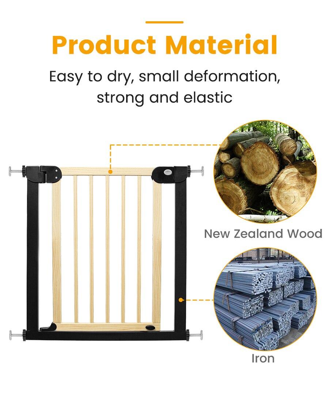 cerca de madeira maciça proteção escadas segurança