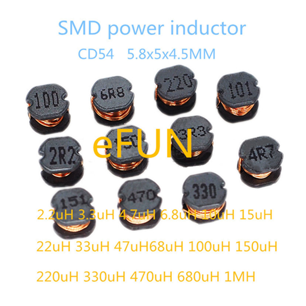 20PCS CD54 4.7uH 4R7 SMD Power Shielded Inductors 5.8x5x4.5mm