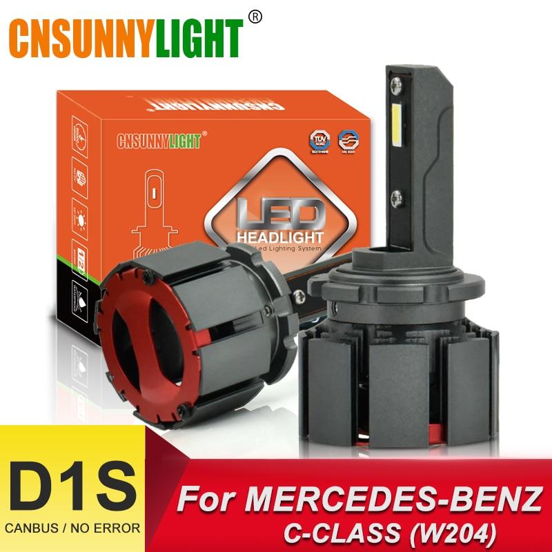 CNSUNNYLIGHT Voiture LED Ampoule D1S D2S D2R Phare Canbus Pour Mercedes Benz C-CLASS W202 W203 W204 C204 CL203 S202 S203 Bas Bi Faisceau