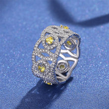 100% 925 Sterling Silver VS2 Diamond Ring for Women Anillos De 2 Carat good Topaz Bizuteria Wedding Gemstone Jewelry Ring Girls(China)