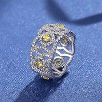 100% 925 Sterling Silver VS2 Diamond Ring for Women Anillos De 2 Carat good Topaz Bizuteria Wedding Gemstone Jewelry Ring Girls