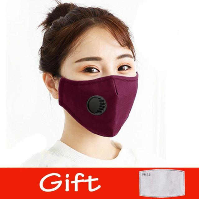 Cotton Face Mask PM2.5 Respirator Face Mask Activated Cover Mouth Anti Dust Haze Pollution Bacteria Proof Flu Masks with Filter 5