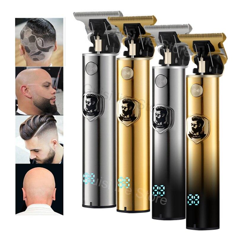 Новая профессиональная электрическая машинка для стрижки волос, триммер для бороды 0 мм 1