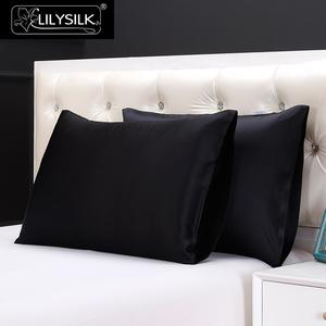 Image 2 - LilySilk 100 משי ציפית טבעי עבור שיער יוקרה תמציתי 25 Momme תות משי 40x40 50x90cm 50x50 בית טקסטיל משלוח חינם