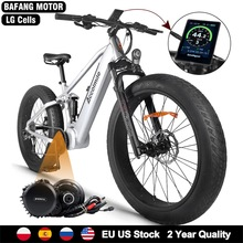 Snow-Bike Motor-Kit Mid-Drive Bicycle-12.8ah Electric 1000W Tire-Fat Beach New 48V BBSHD