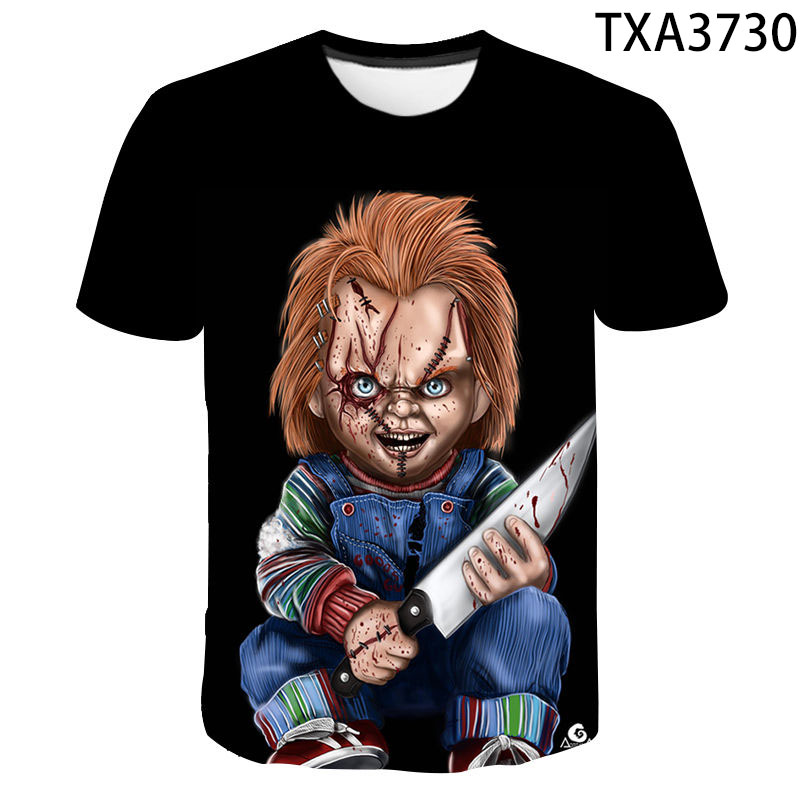 2020 New Chucky Summer T-shirt Men Women Children 3D Printed T shirts Fashion Casual Boy Girl Kids Short Sleeve Cool Tops Tee