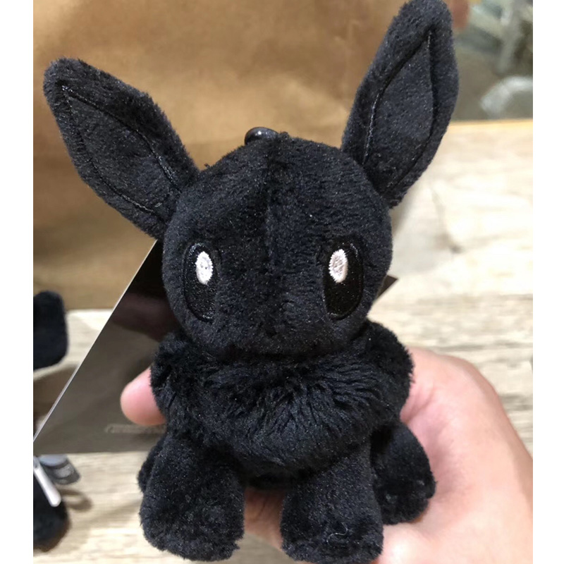 Black Eevee Plush Doll Bag Pendant Stuffed Toys Collection Cute Gifts Birthday Present