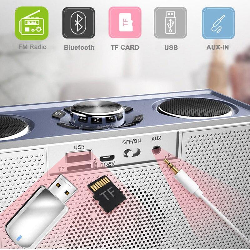 Espelho mágico 25W Música estéreo de Alta Qualidade Sem Fio Bluetooth Speaker Portátil caixa de som surround Orador Ao Ar Livre Baixo TF/ FM/USB - 5