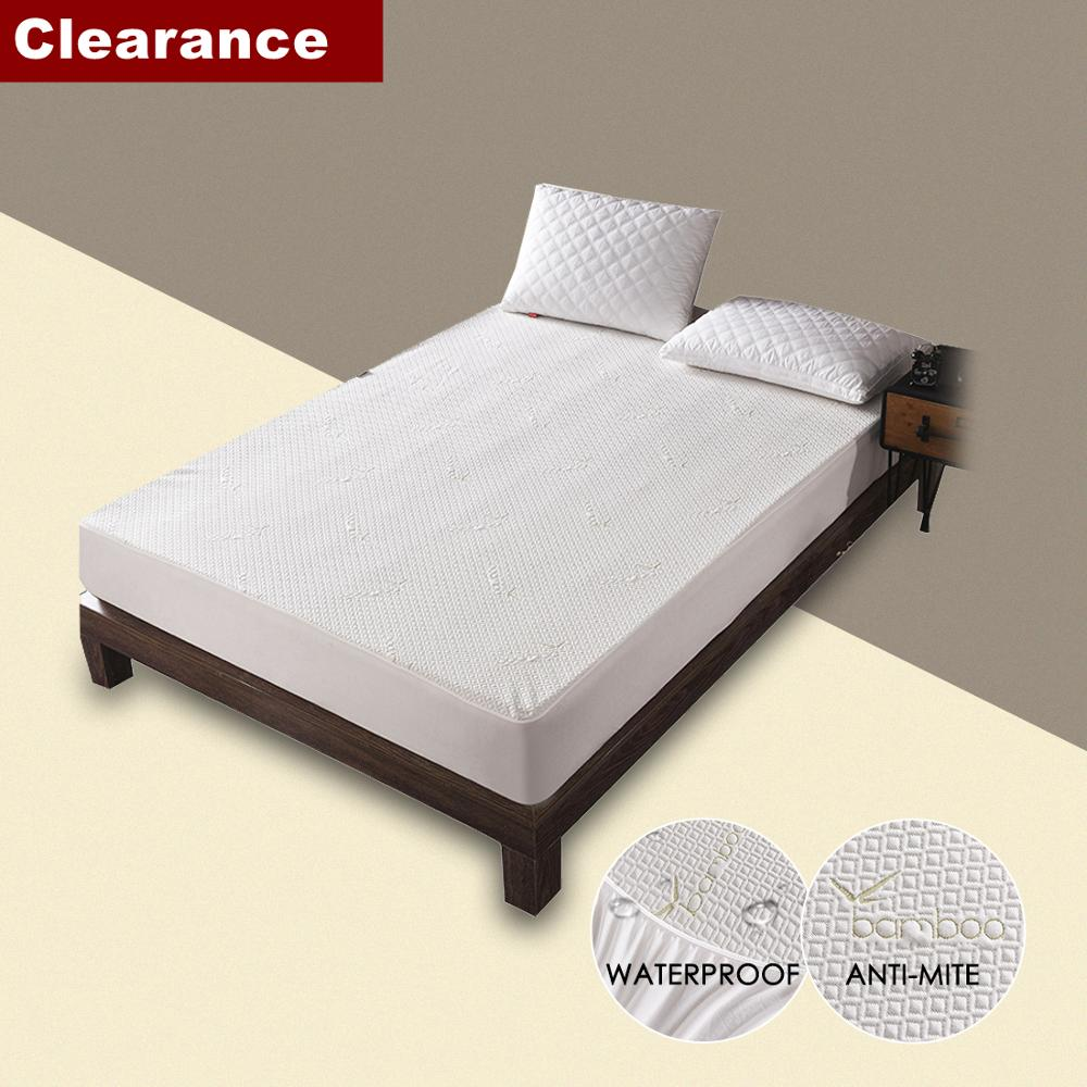 Clearance Sale Bamboo Knitting Jacquard Waterproof Mattress Cover Pad Jacquard Anti-dust Mite Breathable Mattress Protector 1pc