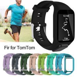 Замена 11 цветов силиконовый ремешок для наручных часов Ремешок для Tom Runner 2 3 Спорт GPS Смарт Браслет часы ремешок умные аксессуары