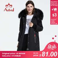 Astrid 2019 nuovo Inverno di arrivo giù donne giacca con un collo di pelliccia allentato abbigliamento di qualità tuta sportiva di inverno delle donne cappotto AR-9160