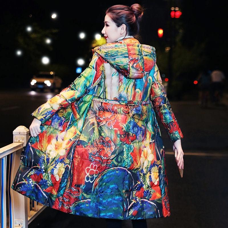 2020 nuevos colores gruesa chaqueta femenina larga sección de gran tamaño Slim moda madre explosión chaqueta 6XL de invierno prendas de vestir f2184 Reductor/disminución/reducción del ruido de la máquina de sonido del vecino de arriba/eliminador de sonido/silenciador de golpe de ruido