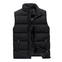 Waistcoat Men's Fall/winter Warm Down Jacket Vest Men's Korean Version of Tide Size Thick Casual A Generation of Hair Mens Vest(China)