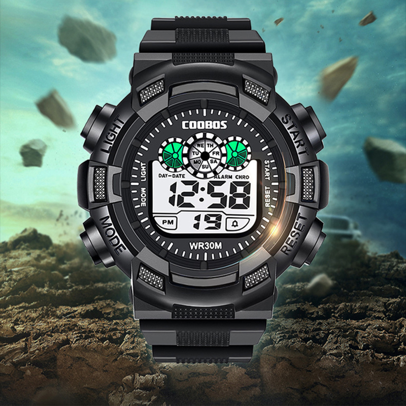 Kids Watches For Boy Bracelet Led Digital Sports Watch Men Silicone Rubber Watch Children Luminous W