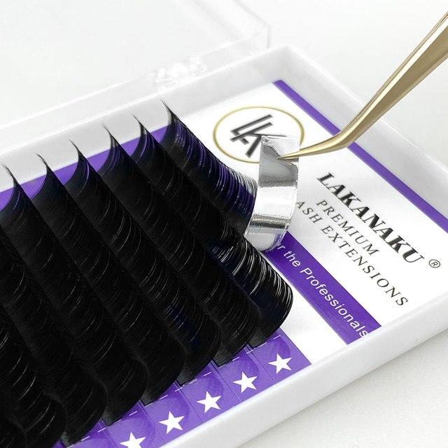 LAKANAKU Individual Eyelashes C D Private Label Mink Eyelash Extensions False Classic Eyelash Lash Extension Makeup 4