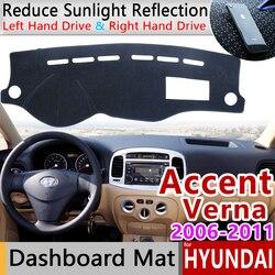 Cho Xe Hyundai Accent Verna 2006 2007 2008 2009 2010 2011 MC Thảm Chống Trơn Trượt Bảng Điều Khiển Bao Miếng Lót Tấm Che Nắng Dashmat thảm Phụ Kiện