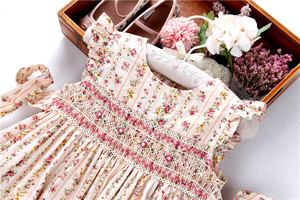 Image 2 - summer smocked dresses for girls flower dress ruffles bishop handmade embroidery princess wedding  boutiques childrens clothing