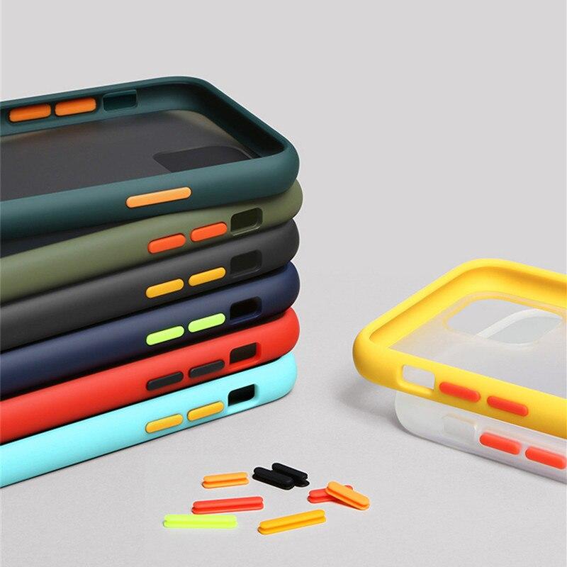 200Pcs/Lot Transparent Matte Back Phone Case For Samsung Galaxy A10 A10S A10E A20 A20S A20E A30 A40 A50 A50S A30S M10S