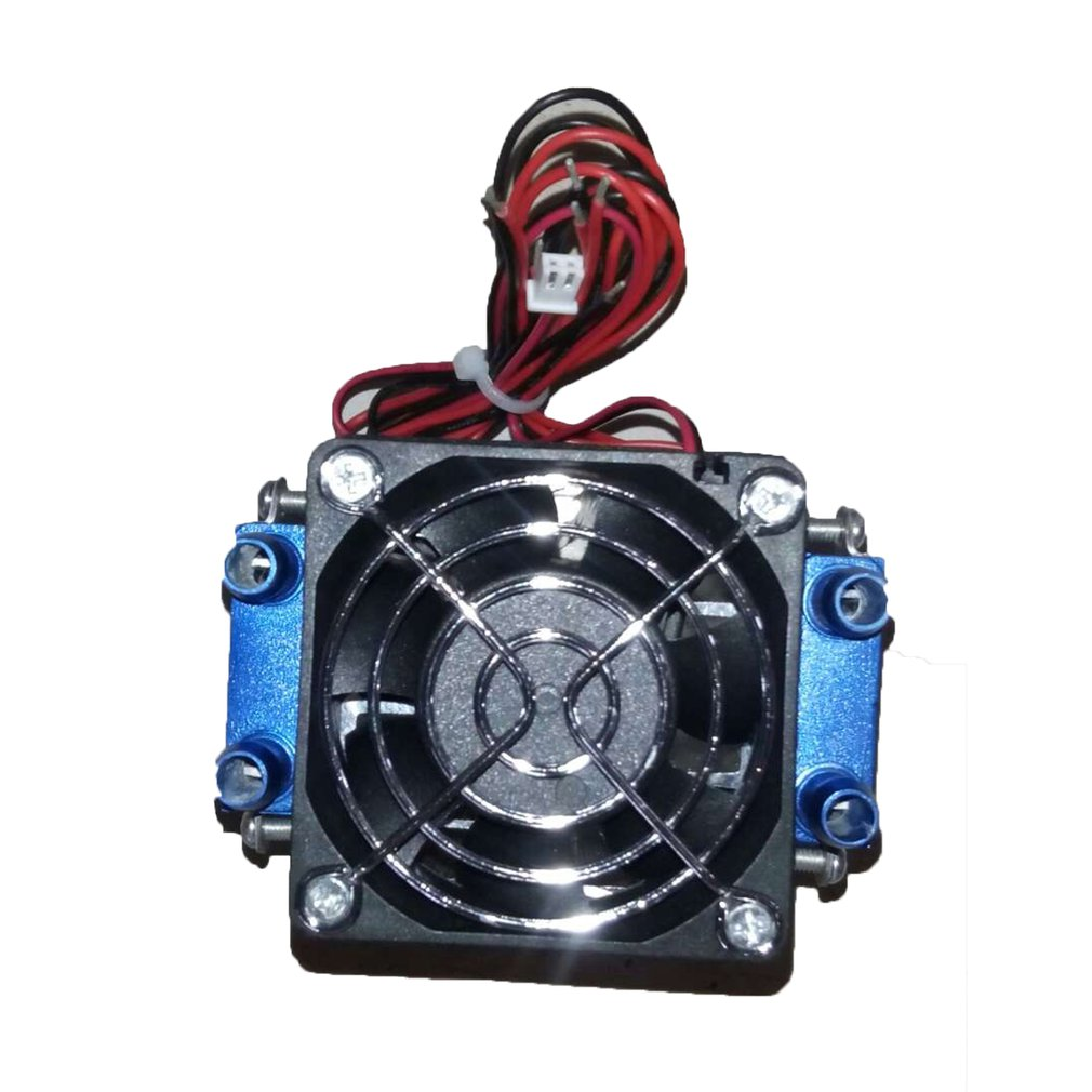 12V 4-Chip Semiconductor Refrigeration TEC1-12706 DIY Thermoelectric Peltier Air Cooling Device Cooling Fan