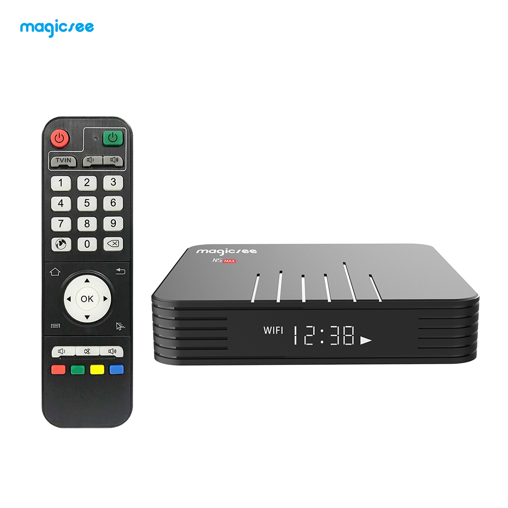 Magicsee N5 Max Smart Android 9.0 TV Box Amlogic S905X2 4K HDR 2GB/16GB 4GB/32GB 2.4G & 5G WiFi & 1000M LAN DLNA HD Media Player(China)