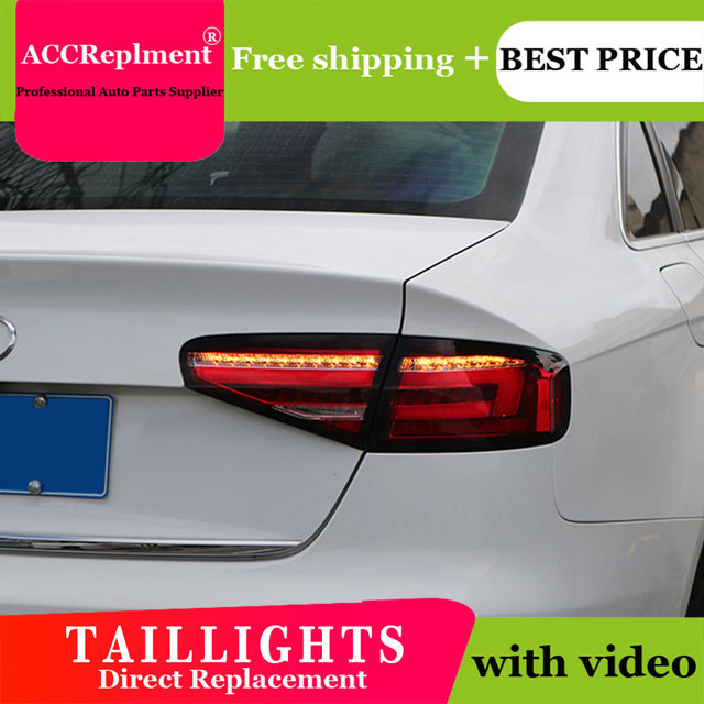 Car Styling LED Tail lights For Audi A4 2013 2016 Taillight LED Running light + Dynamic Turn Signal + Reverse + Brake A Set