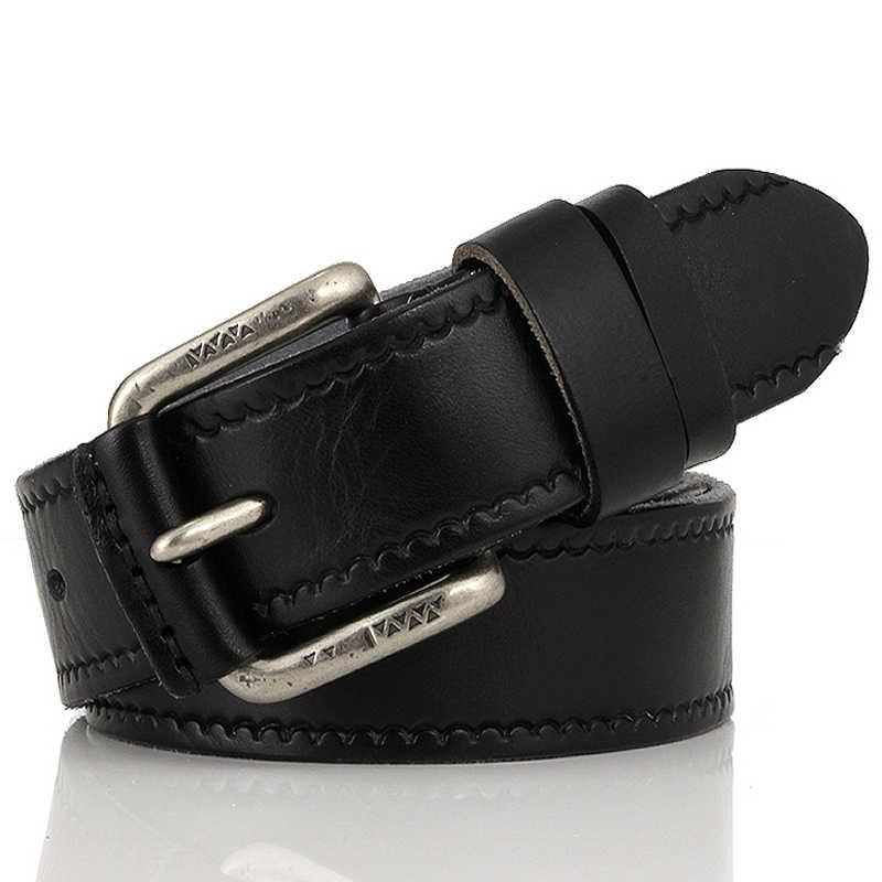פרה אמיתי עור חגורות זכר חגורת עבור ג 'ינס יוקרה classice מעצב רצועת בציר סיכת אבזם גברים חגורות לגברים dropshipping