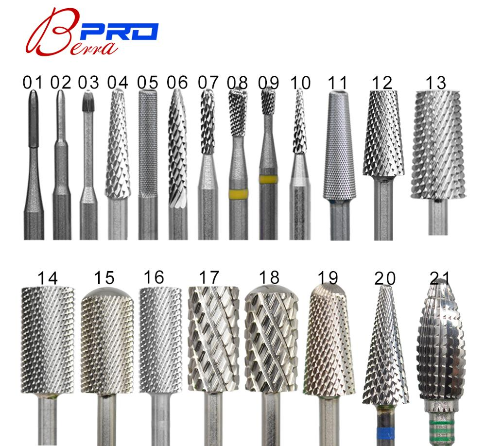 Proberra Carbide Tungsten Barrel Carbide Stable Shank  Accessories Cutter Milling Rotate Pedicure Nail Drill Bits