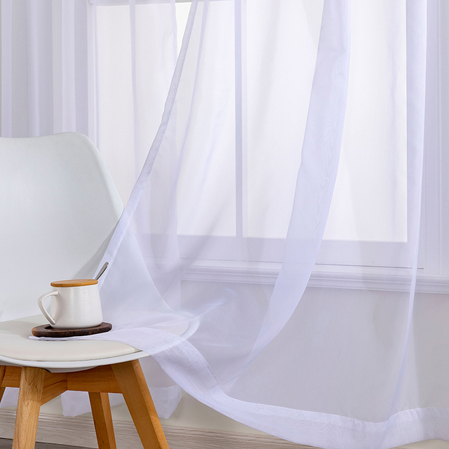 White Tulle Curtains for Bedroom 2
