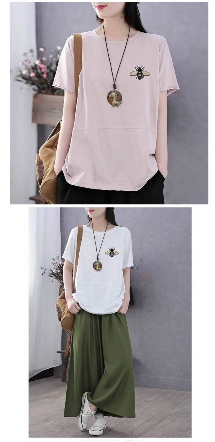 H5030bfb450344a1bb4560938a4b014c1b - PEONFLY Fashion Spring Summer Women T Shirts O Neck Loose Long Sleeve Tee Embroidery Retro Harajuku Shirts Female Tops