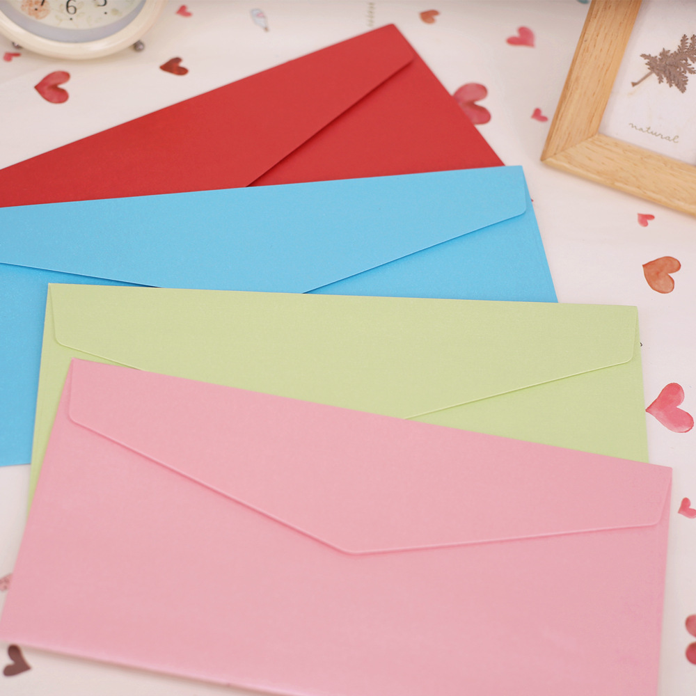 22x11cm Iridescent Paper Envelopes Greeting Card Packing Colorful Color Letter Gift Envelope Red Green Pink Black