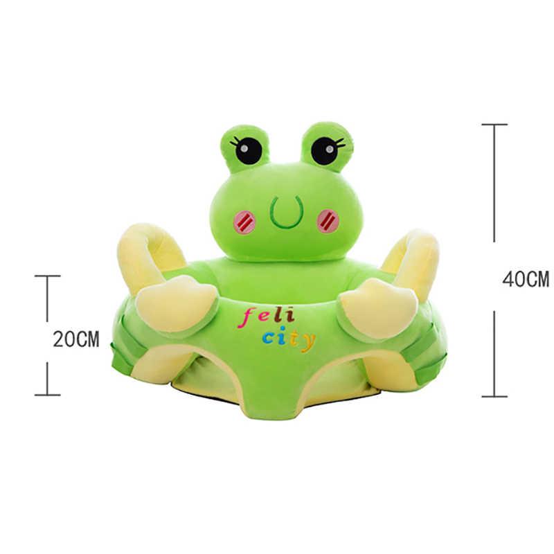 Aprender a sentar-se assento enchido sofá do bebê lavável pele do sofá do bebê macio caso do assento do bebê brinquedos de pelúcia para 0-10 m